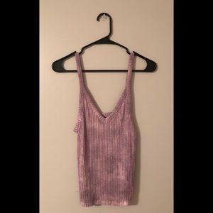 American Eagle soft & sexy ribbed mauve tank